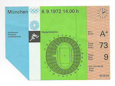 Orig.Ticket   Olympic Games MÜNCHEN 1972 - ATHLETICS 07.09. // 7 Final`s !! RARE