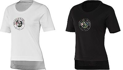 New Women's Adidas RG Y-3 Event tee Tennis T-Shirt Aop FLOWER 2 Roland Garros