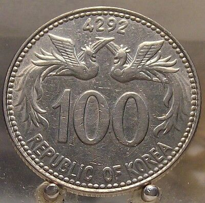 1959 South Korea Copper-Nickel 100 Hwan, Old World Coin