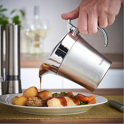 Sauces Dinner Stainless Steel Double Insulated Gravy Sauce Boat Jug Pourer Large