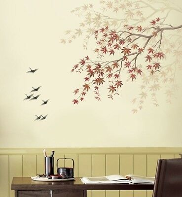 Japanese Maple Branch Stencil - Reusable Wall Stencils for Easy Home Decor