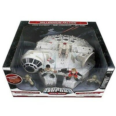 Galactic Heroes  Star Wars Millennium Falcon + 4 Figures Return of Jedi VI NEW!