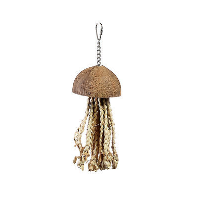 Lazy Bones Parrot or Bird Toy LB-643 Coconut Jelly Fish rope