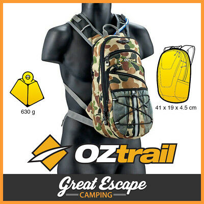 OZtrail Blue Tongue 2L Camo Back Hydration Pack