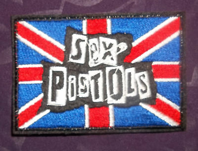 Sex Pistols Uk Flag Embroidered Patch Diy Johnny Rotten Sid Vicious  Sew/iron On