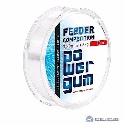 (0,56€/m) 10m FEEDER GUM, SHOCK ABSORBER MATCH & FEEDER POWER GUM FEEDER GUMMI