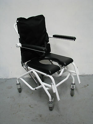 Tilt In Space Recline Gas Assisted Mobile Shower Commode 2