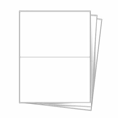 500 Half Sheet 8.5x5.5 Shipping Labels Round Corner For Laser Inkjet Printer