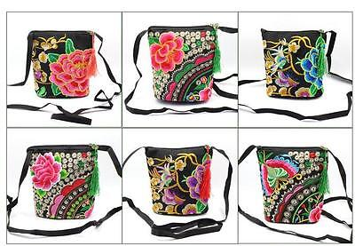Lots10pcs Chinese Handmade Vintage Ethnic Embroidered Pouch Wallet Shoulder bags
