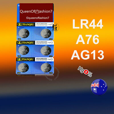 6 x LR44/A76/AG13 1.5V Batteries Alkaline Button Cell Battery Local Stock FAST