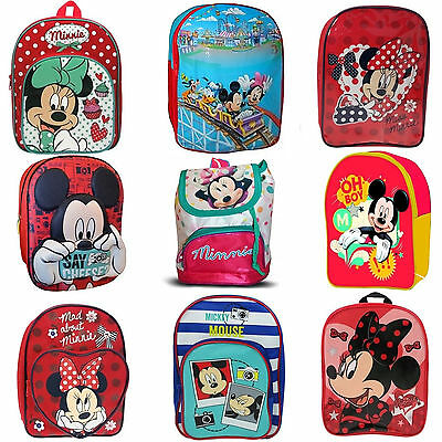 Boy Girl Disney Minnie Mickey Mouse School Bag Rucksack Backpack Brand New Gift