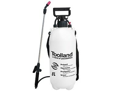 8L Garden Pressure Sprayer Knapsack Kill Weed Chemicals w Lance Shoulder Strap