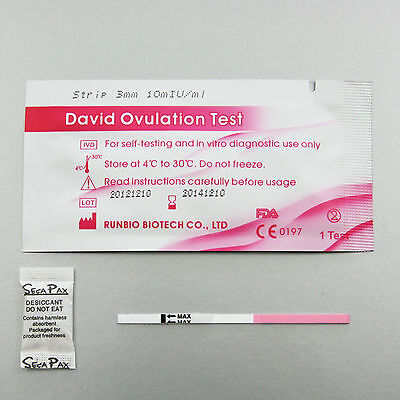 40 x PURBAY Test d'Ovulation Bande Ovulation Test Ovulation Test LH LH by David
