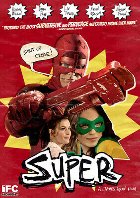 Super (DVD, 2011) Ellen Page, Kevin Bacon, Liv Tyler, Rainn Wilson  NEW