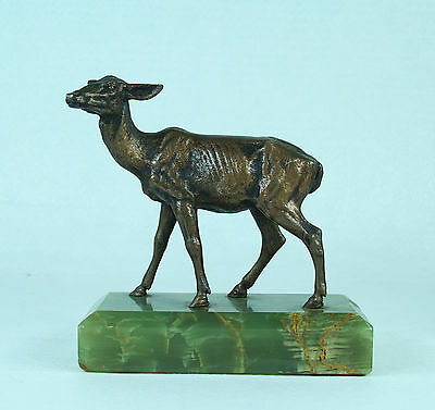 Antique French Bronze Deer Alfred Dubucand