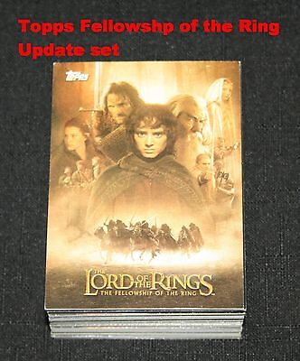 2002 Topps Lord of the Rings Fellowship of the Ring Update Set