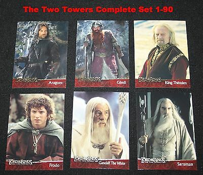 2002 Topps Lord of the Rings The Two Towers Set Cards #s 1-90