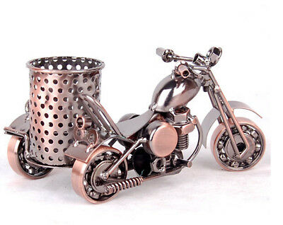 Harley Davidson Motorcycle Model pen holder Gift for Father pencil cup Copper