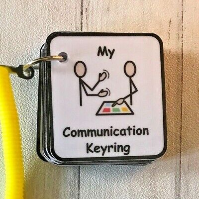 My Communication Keyring - Visual Support for ASD/Autism/Learning Difficulty