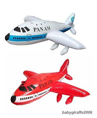 """Baby Kids Children Inflatable Toy Aeroplane  Plane 747 Large Size 23"""" Party Gift"""