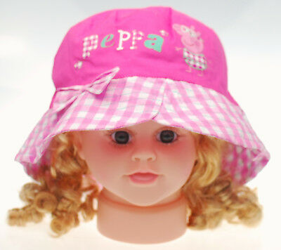 PEPPA PIG BUCKET HAT Kids Toddler 3 Sizes 48-50cm, 51-52cm & 53-54cm Cute NEW
