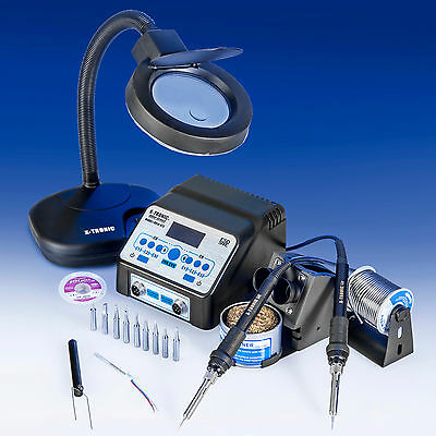"""USA EXCLUSIVE"" X-TRONIC 8010-XTS DUAL Antistatic Digital Soldering Iron Station"