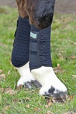 Equilibrium Stretch & Flex Flatwork Wraps Boots Horse Pony Dressage Black White