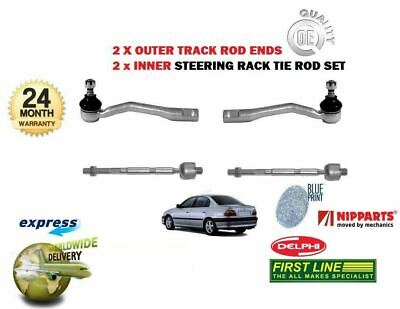2x INNER STEERING TRACK RACK TIE ROD END FOR TOYOTA AVENSIS 1997-2003 2x OUTER