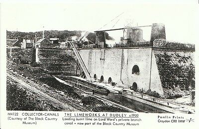 Canal Postcard - The Limeworks at Dudley c1900 - Lord Ward's Branch Canal  2196