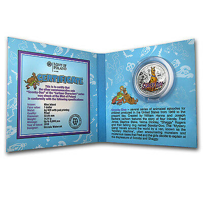2013 Niue Proof Silver $1 Cartoon Characters Coin - Scooby-Doo - SKU #76728
