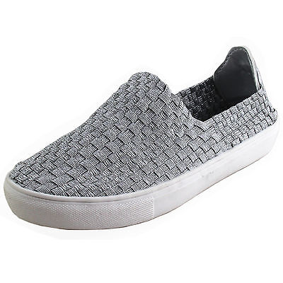 New girl's kids slip on casual shoes silver gray walk summer