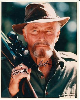 Charlton Heston autograph  8x10 photo as ALASKA
