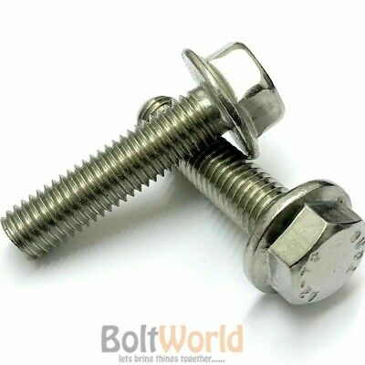 M5 M6 M8 M10 A2 Stainless Steel Flange Hexagon Hex Head Metric Bolts / Screws