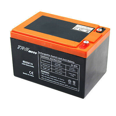 NEW 12V 15AH AGM SLA DEEP CYCLE Battery SCOOTER GOLF CART BUGGY Bike wheelchair