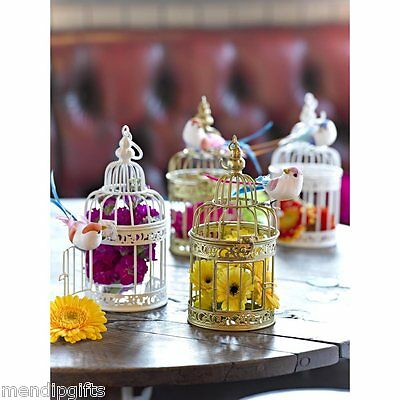Be Happy Talking Tables Vintage Bird Cage Wedding Decoration Table Centrepiece