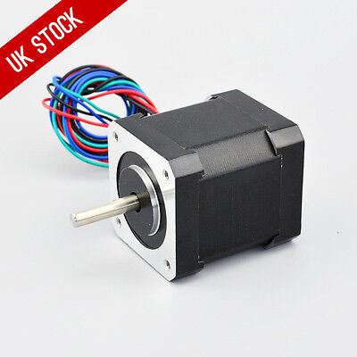 0.9deg Nema 17 Stepper Motor Bipolar 2A 46Ncm/65oz.in 42x42x48mm 4-wires DIY CNC