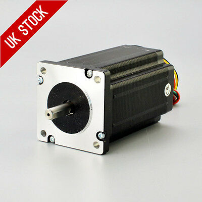 Nema 24 Stepper Motor 4Nm 3A 8-wire 8mm Dual Shaft CNC Mill Lathe Laser Router