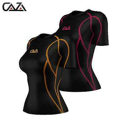 Womens Compression Shirt Short Sleeve, Base layer Top, Training Running Yoga Gym
