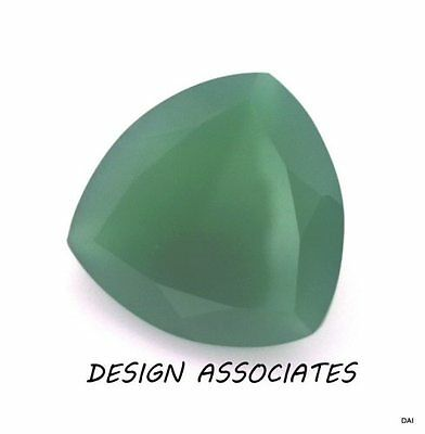 9 Mm Trillion Cut Natural Green Onyx  All Natural Aaa
