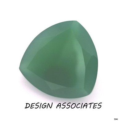 13 Mm Trillion Cut Natural Green Onyx  All Natural Aaa