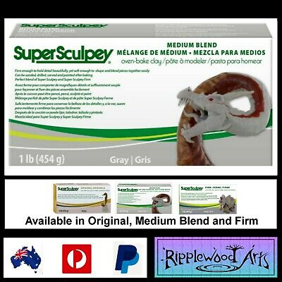 Super Sculpey MEDIUM BLEND- 1lb (454gm) Grey - Oven Bake Clay