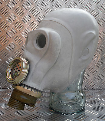 Genuine Issue Rubber Gas Mask with New/Sealed Filter - Un-issued