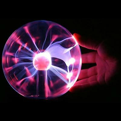 Touch Sensitive Plasma Ball Globe Sound Activated/ Constantly On USB Lighting