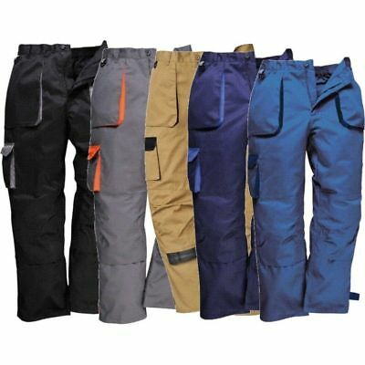 Portwest Workwear Texo TX11 Pants Contrast Kneepad Work Trousers FREE POST