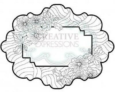 CREATIVE EXPRESSIONS Cut Mounted SINGLES Stamp SAND DUNE FLORAL UMS607 Su Wilson