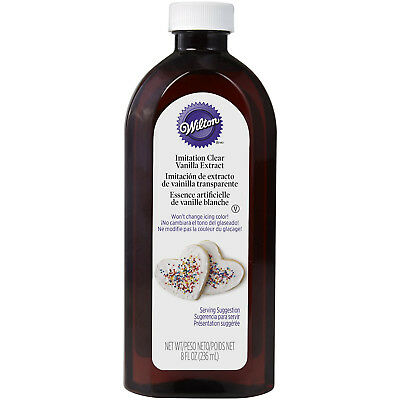 Wilton Clear Vanilla Extract Flavor 8oz 236ml Large Bottle for Cake Icing Baking