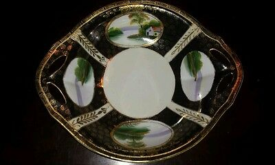 Nippon hand painted with gold leaf trim 1910-1911 very old rare pattern Noritake