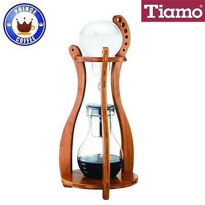 Tiamo Cold Water Brew/Drip (Dutch) Coffee Maker 10 Cups Bamboo Wood Tower HG6333