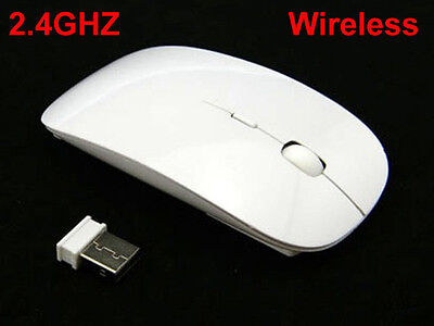 2.4GHz Ultra Thin Slim Wireless Mouse Mice for PC Laptop Windows Apple Macbook