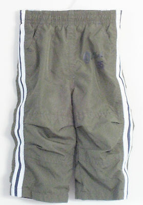 OSHKOSH B'GOSH Boys Size 9 Months Olive Green Track Pants